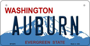 Auburn Washington Wholesale Novelty Metal Bicycle Plate BP-8679