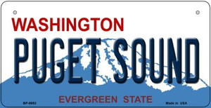 Puget Sound Washington Wholesale Novelty Metal Bicycle Plate BP-8683