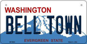 Bell Town Washington Wholesale Novelty Metal Bicycle Plate BP-8684