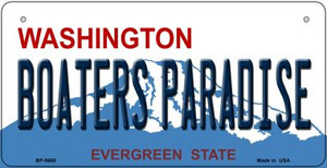 Boaters Paradise Washington Wholesale Novelty Metal Bicycle Plate BP-8688