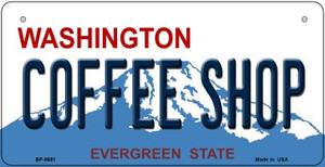 Coffee Shop Washington Wholesale Novelty Metal Bicycle Plate BP-8691