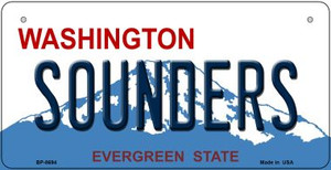 Sounders Washington Wholesale Novelty Metal Bicycle Plate BP-8694