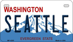 Seattle Washington Wholesale Novelty Metal Motorcycle Plate MP-4205
