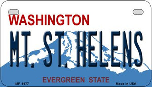 Mt St Helens Washington Wholesale Novelty Metal Motorcycle Plate MP-1477