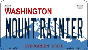 Mount Rainier Washington Wholesale Novelty Metal Motorcycle Plate MP-1478