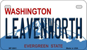 Leavenworth Washington Wholesale Novelty Metal Motorcycle Plate MP-8661
