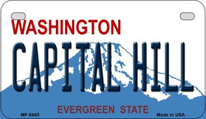 Capital Hill Washington Wholesale Novelty Metal Motorcycle Plate MP-8665
