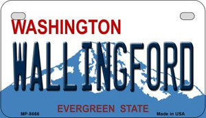 Wallingford Washington Wholesale Novelty Metal Motorcycle Plate MP-8666