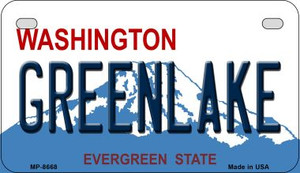 Greenlake Washington Wholesale Novelty Metal Motorcycle Plate MP-8668