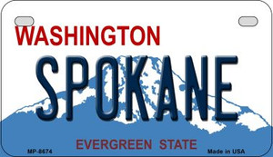 Spokane Washington Wholesale Novelty Metal Motorcycle Plate MP-8674