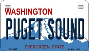 Puget Sound Washington Wholesale Novelty Metal Motorcycle Plate MP-8683