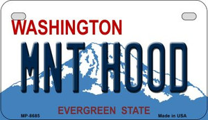 Mnt Hood Washington Wholesale Novelty Metal Motorcycle Plate MP-8685