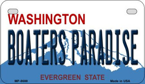 Boaters Paradise Washington Wholesale Novelty Metal Motorcycle Plate MP-8688