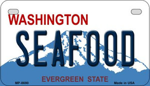 Seafood Washington Wholesale Novelty Metal Motorcycle Plate MP-8690