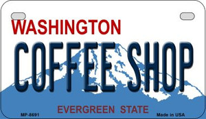 Coffee Shop Washington Wholesale Novelty Metal Motorcycle Plate MP-8691