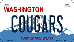 Cougars Washington Wholesale Novelty Metal Motorcycle Plate MP-8693