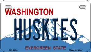 Huskies Washington Wholesale Novelty Metal Motorcycle Plate MP-8696