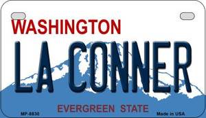 LA Conner Washington Wholesale Novelty Metal Motorcycle Plate MP-8830