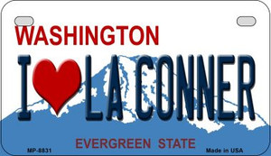 I Love LA Conner Washington Wholesale Novelty Metal Motorcycle Plate MP-8831