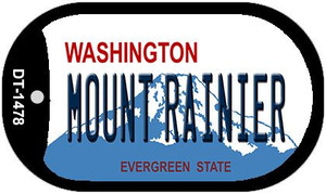 Mount Rainier Washington Wholesale Novelty Metal Dog Tag Necklace DT-1478