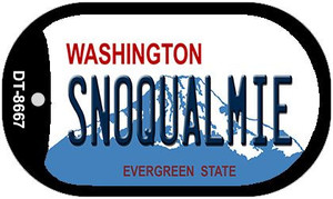 Snoqualmie Washington Wholesale Novelty Metal Dog Tag Necklace DT-8667