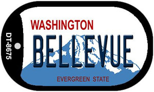 Bellevue Washington Wholesale Novelty Metal Dog Tag Necklace DT-8675