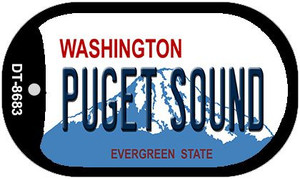 Puget Sound Washington Wholesale Novelty Metal Dog Tag Necklace DT-8683