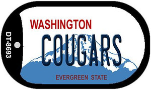 Cougars Washington Wholesale Novelty Metal Dog Tag Necklace DT-8693
