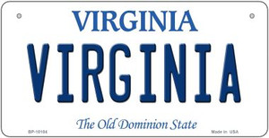Virginia Wholesale Novelty Metal Bicycle Plate BP-10104