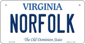 Norfolk Virginia Wholesale Novelty Metal Bicycle Plate BP-10106