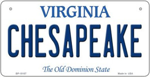 Chesapeake Virginia Wholesale Novelty Metal Bicycle Plate BP-10107