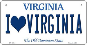 I Love Virginia Wholesale Novelty Metal Bicycle Plate BP-10114