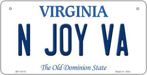 N Joy VA Virginia Wholesale Novelty Metal Bicycle Plate BP-10115