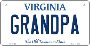 Grandpa Virginia Wholesale Novelty Metal Bicycle Plate BP-10121