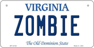 Zombie Virginia Wholesale Novelty Metal Bicycle Plate BP-10126