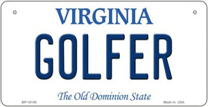 Golfer Virginia Wholesale Novelty Metal Bicycle Plate BP-10138