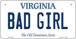 Bad Girl Virginia Wholesale Novelty Metal Bicycle Plate BP-10139
