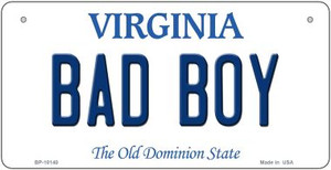 Bad Boy Virginia Wholesale Novelty Metal Bicycle Plate BP-10140