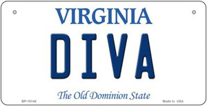 Diva Virginia Wholesale Novelty Metal Bicycle Plate BP-10144