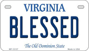 Blessed Virginia Wholesale Novelty Metal Motorcycle Plate MP-10137