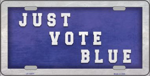 Just Vote Blue Wholesale Novelty Metal License Plate LP-12271