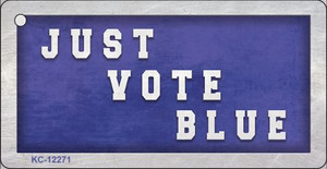 Just Vote Blue Wholesale Novelty Metal Key Chain KC-12271
