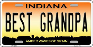 Best Grandpa Indiana Wholesale Novelty Metal License Plate LP-12279
