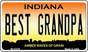 Best Grandpa Indiana Wholesale Novelty Metal Magnet M-12279