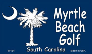 Myrtle Beach Golf Flag Wholesale Novelty Metal Magnet M-184
