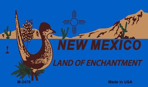 Roadrunner Blue New Mexico Wholesale Novelty Metal Magnet M-2476