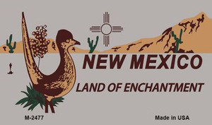 Roadrunner Gray New Mexico Wholesale Novelty Metal Magnet M-2477
