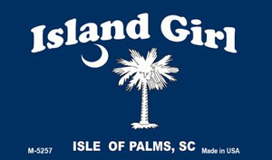 Island Girl Flag Wholesale Novelty Metal Magnet M-5257