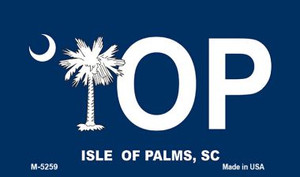 IOP Blue South Carolina Wholesale Novelty Metal Magnet M-5259