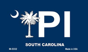 PI Blue South Carolina Wholesale Novelty Metal Magnet M-5332